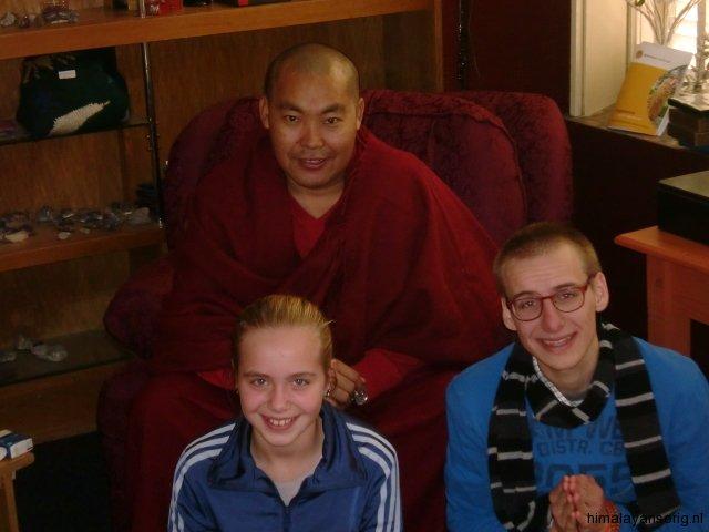 Lama Jampa met studenten