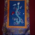 Draken thanka (blauw)