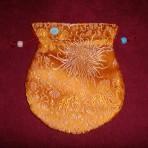 Malatasje -Geel, bloem patroon, Groot-